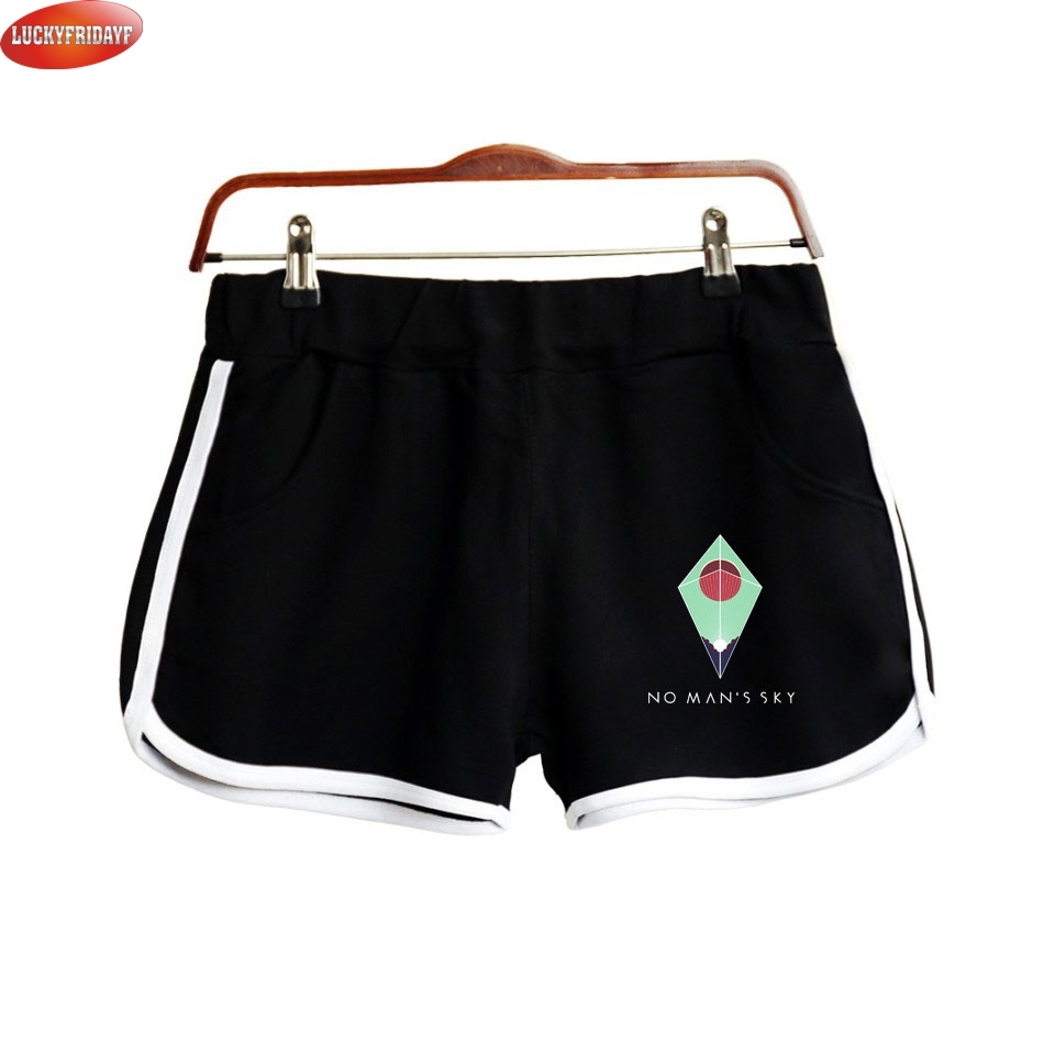 2018 Game No Man's Sky Shorts For Women Casual Cool Shorts Fashion Style No Man's Sky Printed Shorts Suitable For Summer