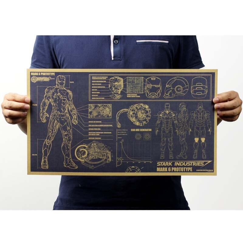 Винтажный постер Фильм Ретро аниме автомобиль плакаты и принты кофе/кухня/гостиная декоративная живопись крафт-бумага наклейки на стену - Цвет: 083