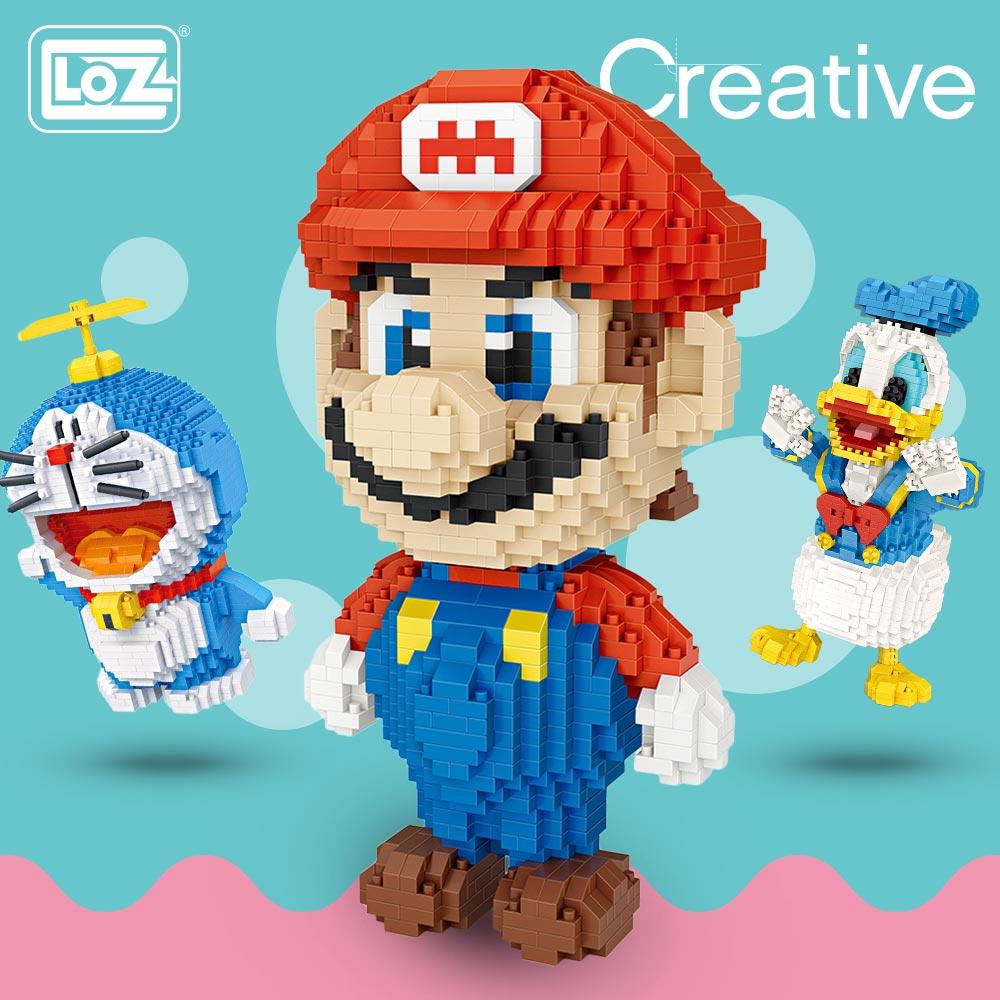 LOZ Micro Blocks Diamond Bricks Cartoon Character Anime Action Figures DIY Assembly Toys Hobbies Educational Model Kawaii Nano