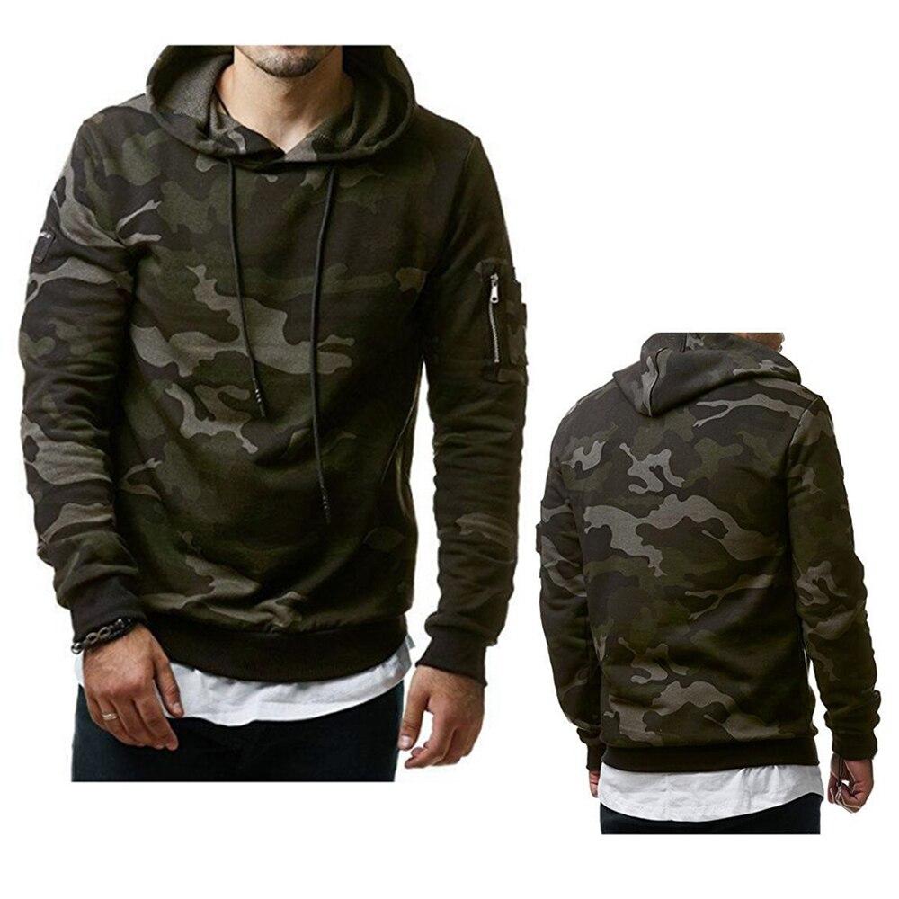2018 New Camouflage Hoodies Men Military Style Fleece Hooded Coat Casual Camo Hoody Sweatshirt Plus Size Warm Thick Tracksuit
