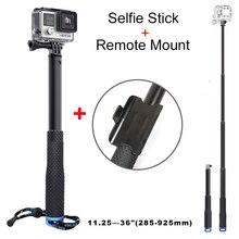 2015 new selfie monopod stick with Remote Mount for gopro hero 3 3+ 4 HD xiaomi yi sj 4000 5000 6000 7000 camera accessories