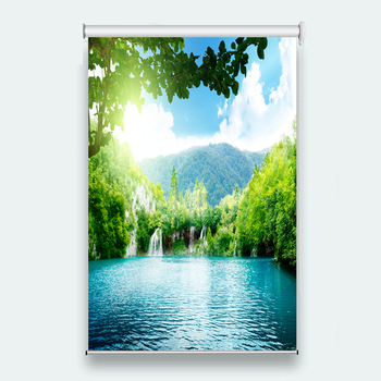 Customize Window Roller Blinds Window Roller Blinds for Living Room Bedroom Lake scenery Photo Roller Curtains