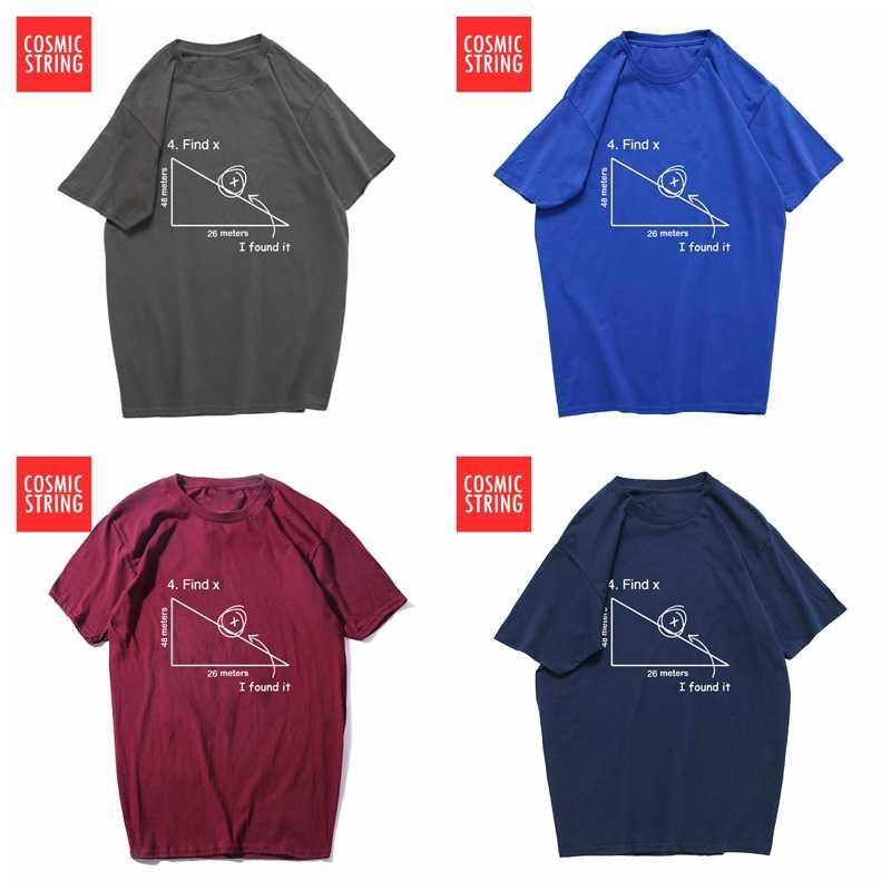 9cf8d710e0d ... COSMIC STRING 100% cotton casual short sleeve math theme print men T  shirt casual cool ...