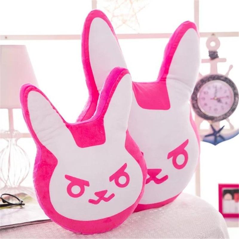 1pc 35cm/55cm Overwatches Game Plush Pillows Pioneer Dva Rabbit Plush Pillow Cushion Toys Soft Stuffed Animals Cosplay Kids Toys 2