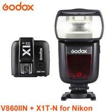 Godox Ving V860II-N HSS i-TTL 2,4g Wireless Li-auf Kamera Flash hinzufügen X1T-N Sender für Nikon DSLR Kameras