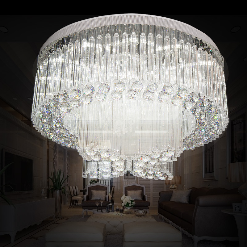 85-265 - v led crystal lamp kitchen dining & bar  bedroom villa droplight duplex droplight 85 265 v led crystal lamp the hotel lobby kitchen dining