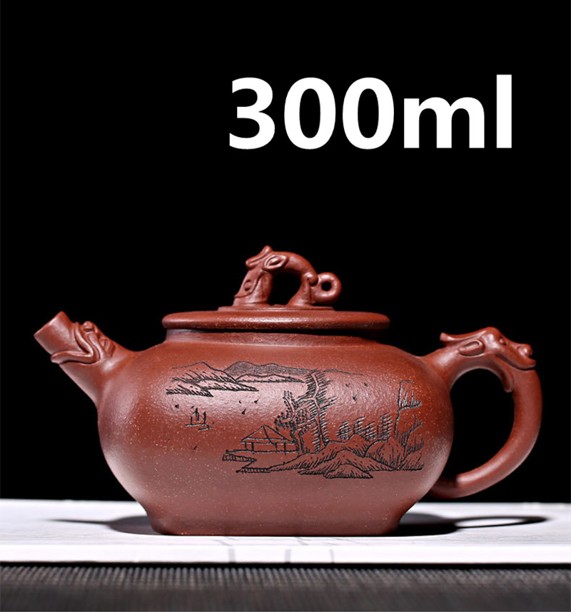 Chinese Porcelain Teapots Yixing Zisha Teapot Gongfu Tea Set 300ml New Arrived High Quality With Gift Box Safe Packaging|Teapots| |  -