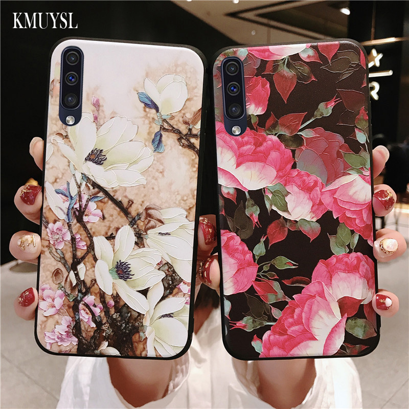 <font><b>Cases</b></font> For <font><b>Samsung</b></font> A50 2019 3D Rose <font><b>Flower</b></font> Painting Coque For <font><b>Samsung</b></font> <font><b>Galaxy</b></font> <font><b>A70</b></font> A40 A30 A20 A10 M10 M20 2019 A7 2018 Phone <font><b>Case</b></font> image