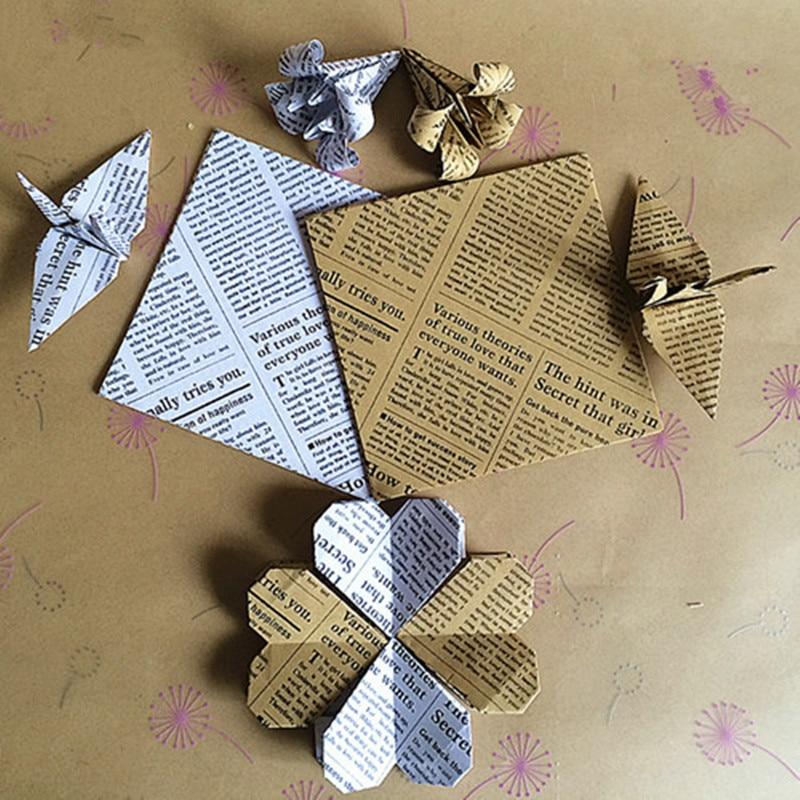 40 PCS 40X40cm Colored Square Origami Paper Folding Paper Antique Beauteous Patterned Origami Paper