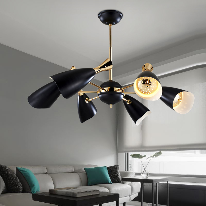 Luxury design living room modern pendant lights black white iron lamp shades  DIY adjustment angle for dining room Kitchen lightsOnline Get Cheap Luxury Lamp Shades  Aliexpress com   Alibaba Group. Dining Room Chandeliers Shades. Home Design Ideas