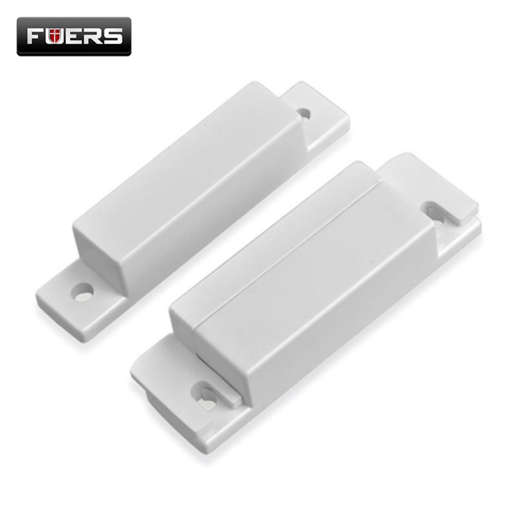 Fuers Wired Door Window Magnetic Sensor Switch for PSTN GSM Alarm System Q2 GSM10A 8218G G2 Connect GND and N.C Ports Directly(China)