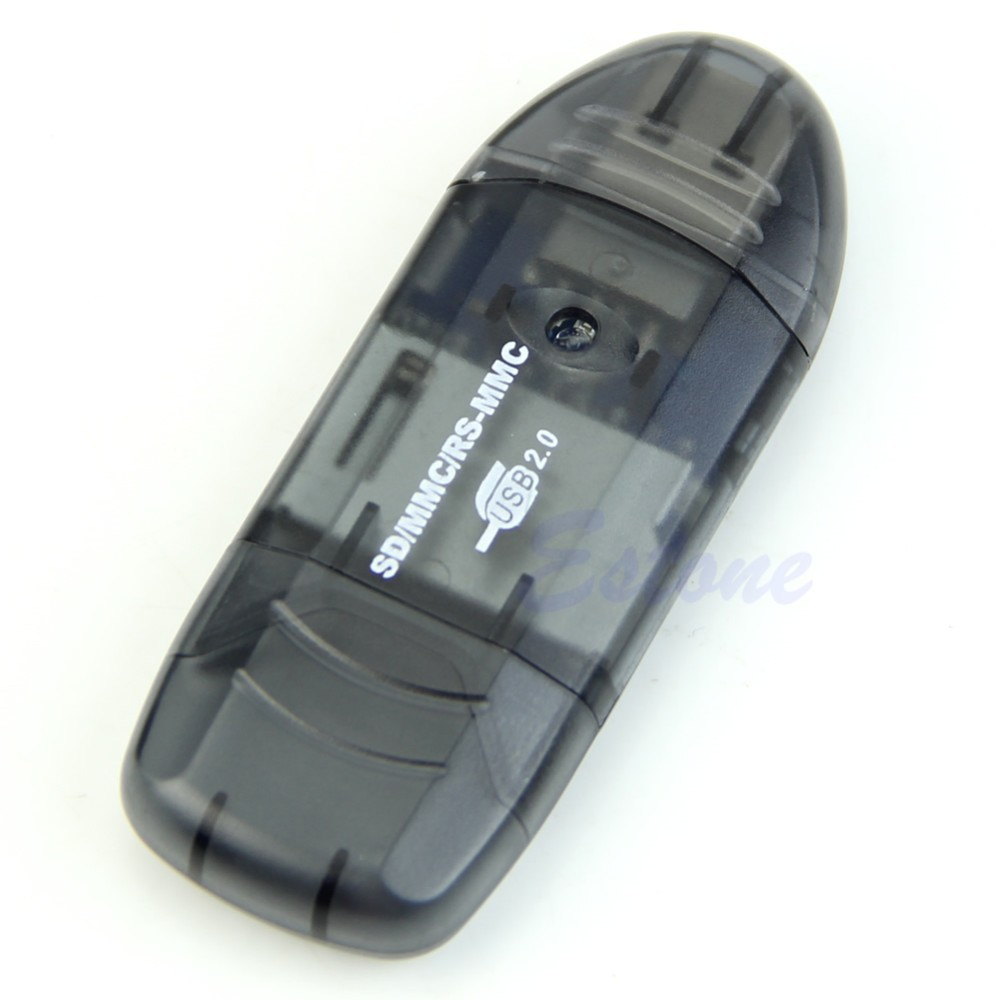 USB 2.0 SDHC SD MMC RSMMC Memory Card Reader Writer With LED Indicator Lights C26 ...