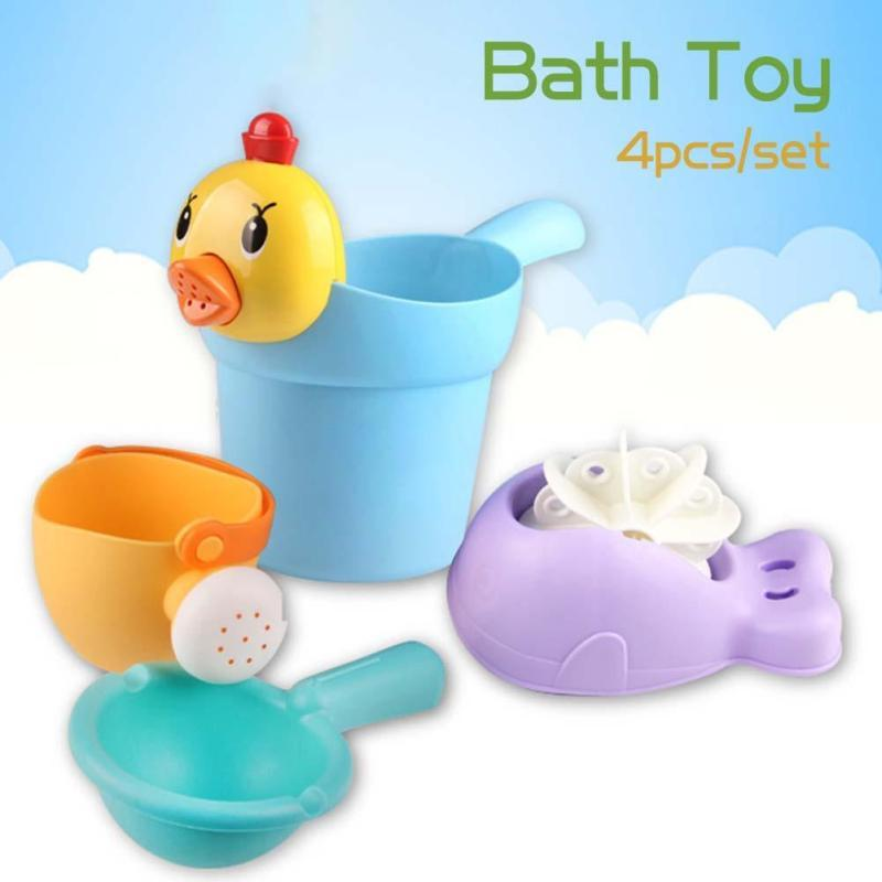 No Toxic baby bath toys 4pcs/set Funny Bathing Toys for children ...