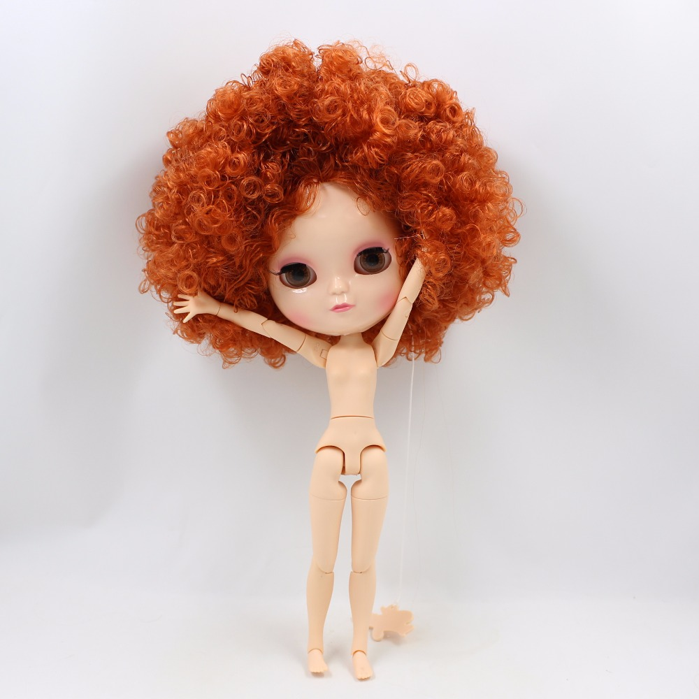 Neo Blythe Doll with Ginger Hair, White Skin, Shiny Face & Jointed Azone Body 3