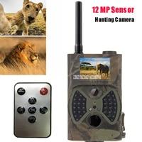 HC300M Wildlife Night Vision Hunting Trail Camera HD 12MP Pixels Night Vision MMS GSM Infrared Motion Monitor Scouting Camera
