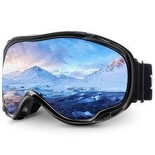 MAXJULI סקי גוגל UV אנטי ערפל שלג משקפי לגברים נשים נוער M1