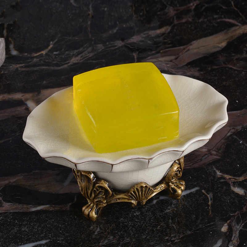 Kreatywne ręcznie składniki mydelniczka Ice Cracked porcelana mydelniczka Soapbox stojąca suszarka brodzik akcesoria łazienkowe