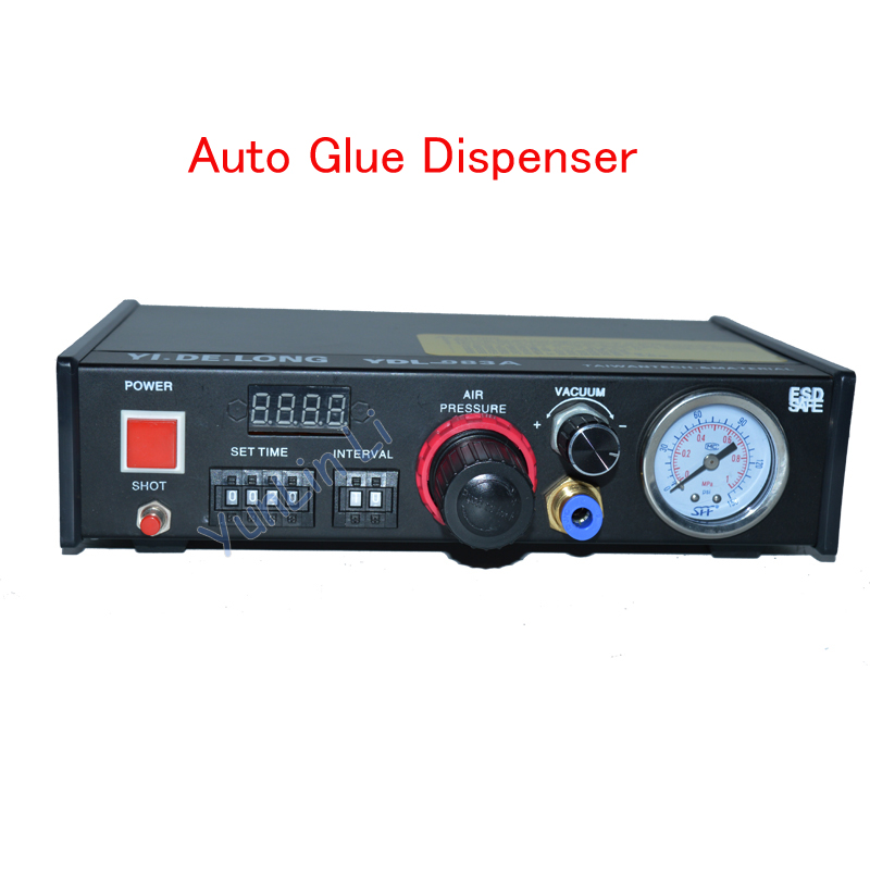 Auto Glue Dispenser 110V /220V Solder Paste Liquid Controller Dropper Dispensing System YDL-983A 1 set auto glue dispenser solder paste liquid controller dropper ydl 983a dispensing system 110v