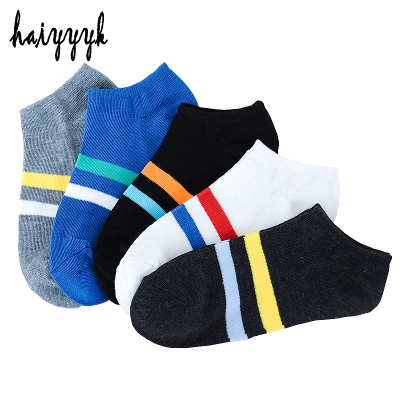 10 Pieces = 5 Pairs New Fashion Brand Men Socks Slipper Invisible Cotton Short Socks Male Casual Sock HOT SALE