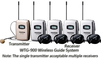 Takstar WTG-900 4-person Tour Group Guide/Assistive Listening System Package Church Takstar WTG-900 1 Transmitter 4 Receivers