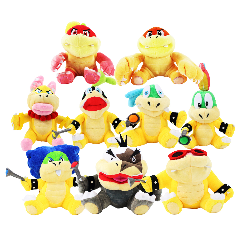 9pcs lot 15 18cm Super Mario Koopalings Plush Toys Wendy LARRY IGGY Ludwig Roy Morton Lemmy