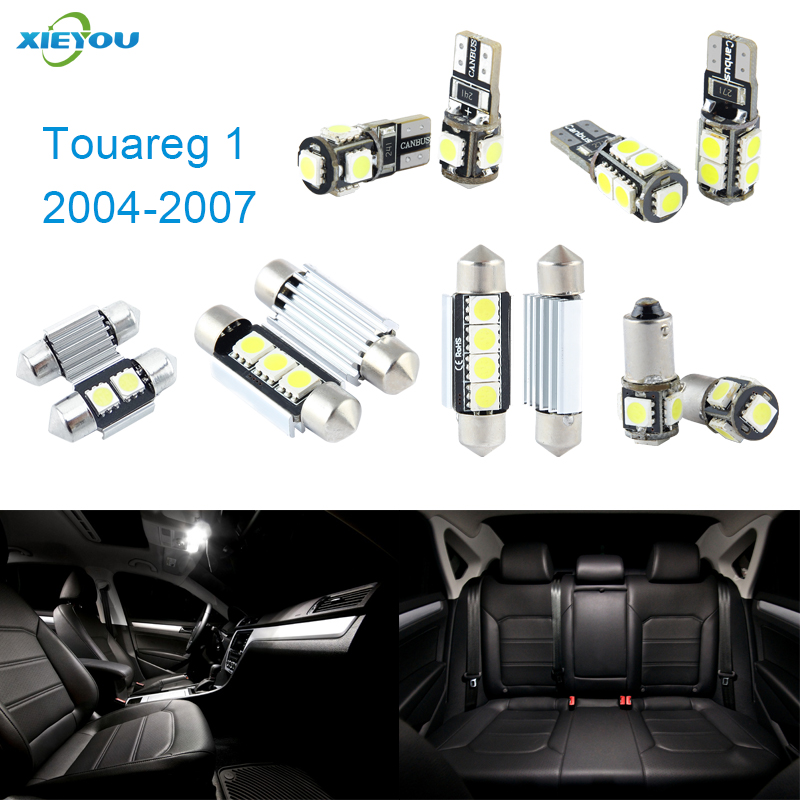 XIEYOU 18pcs LED Canbus Interior Lights Kit Package For Volkswagen VW Touareg 1 (2004-2007) автомобиль bburago 1 18 gold volkswagen touareg 18 12002