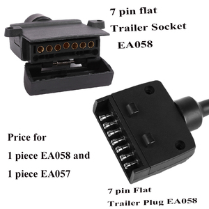 Image 1 - 12 V accesorios para el coche 7 Pin enchufe de remolque plano 7 way core pole camión g adaptador de remolque conector eléctrico conector