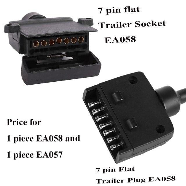 12 V accesorios para el coche 7 Pin enchufe de remolque plano 7 way core pole camión g adaptador de remolque conector eléctrico conector