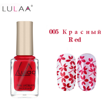 Lulaa Stamp polish 1 Bottle/LOT 6 ml Nail Polish & stamp polish nail art pen 12 colors Optional gel nail polish недорого