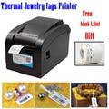 Goedkope prijs thermische sieraden printer set met een label stratch proof gratis label software gratis sieraden tags templates