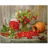 5D Diy Diamond Painting Mosaic Art Needlework Wild Strawberry Picture Of Rhinestone Cross Stitch Diamond Embroidery