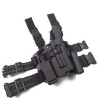 Tactical Light Bearing Glock Gun Leg Holster Right Hand Hunting Shooting Gun Carry Case Fit Glock 17 19 22 23 31 32