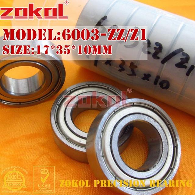 ZOKOL 6003Z bearing 6003 ZZ Z1 80103 Z1 6003-ZZ Deep Groove ball bearing 17*35*10mm