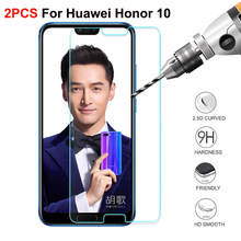 2PCS Tempered Glass for Huawei honor 10 on Screen Protector Phone Film on Glass Tempered for Huawei honor 10 Glass(China)