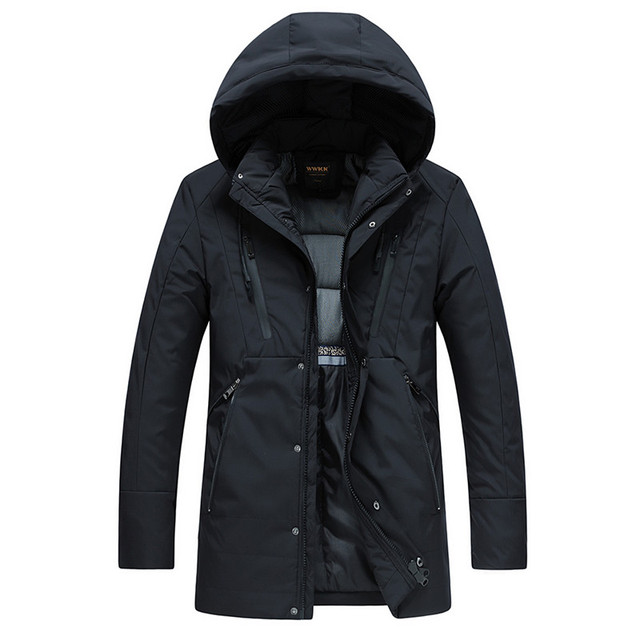 Best Offers Thick Cotton Padded Parka Men Winter Jacket Coat Hooded Stand Collar Hoodie  Warm Outerwear L-4XL Large Size Male Casual Coats