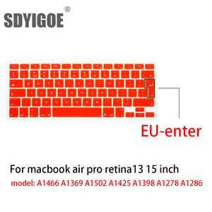 Image 2 - Laptop keyboard cover for macbook air 13 pro 15 inch A1466 A1502 A1278 A1398 EU Silicon Keyboard Cover Color protective film