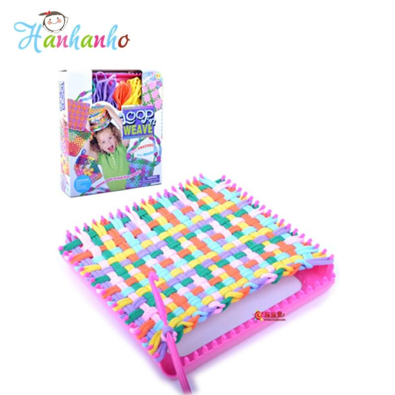 Cô gái Đồ Chơi Tự Làm Đàn Hồi Dệt Túi Trẻ Em Dệt Loom Knit Tiện Ích Túi Handmade đồ chơi Giáo Dục