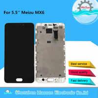 Testato M & Sen Per 5.5 ''Meizu MX6 LCD schermo di Visualizzazione Dello Schermo Con Frame + Touch Screen del Pannello Digitizer Per meizu MX6 Display Telaio di Montaggio
