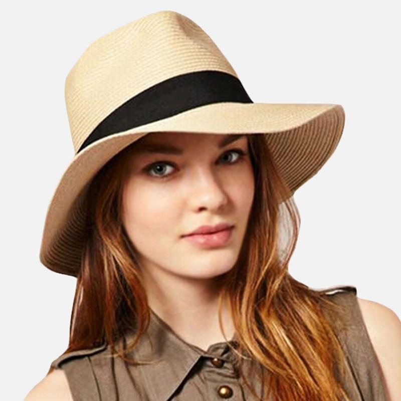 Fashion Summer Women Men Toquilla Straw Sun Hat Elegant ...