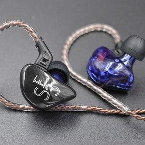 Image 2 - KZ ES3 1DD 1BA Hybrid Dynamic And Balanced Armature Earphone In Ear HIFI Stereo Sport Headset Suitable Bluetooth 100% Original