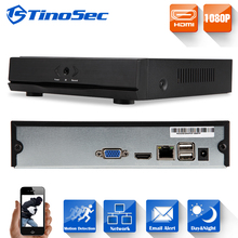 TinoSec Mini NVR 4 /8 Channel Full HD 1080P CCTV NVR H.264 NVR ONVIF HDMI Network Video Recorder For IP Camera 1080P System