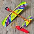 1 pcs alta qualidade moda estiramento childrens crianças modelo de avião planador aviões voando toys jogo barato presente de natal aniversário
