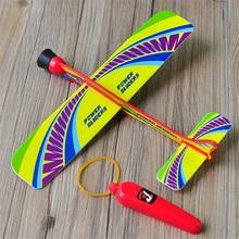 1PCS High Quality Fashion Stretch Flying Glider Planes Aeroplane Childrens Kids Model Toys Game Cheap Birthday Christmas Gift
