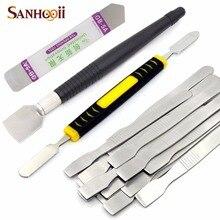 цена SANHOOII 1pcs Scraper Metal Solder Paste Stirring Knife Phone Repair Opening Pry Tool BGA Reballing Welding Gadget DIY Design онлайн в 2017 году