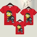 Children Clothes Summer Family Look Cartoon T Shirts Kids Clothing Baby Father & Mother & Daughter & Son Family Matching Outfits