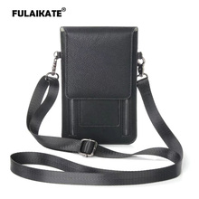 FULAIKATE Litchi Universal Shoulder Bag for iPhone6s 7 Plus Card Pocket Case Samsung Galaxy S8Plus MEGA 6.3 Note5 Pouch