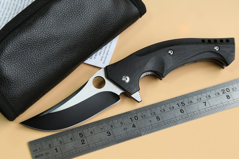 JUFULE OEM C196 Ball Bearing Folding font b Knife b font CPM S30V G10 steel Handle