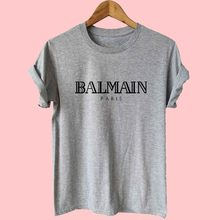 2018 Balmain Paris T-shirt Women Cool Graphic Tee Matching Couple Shirt  plus size 13