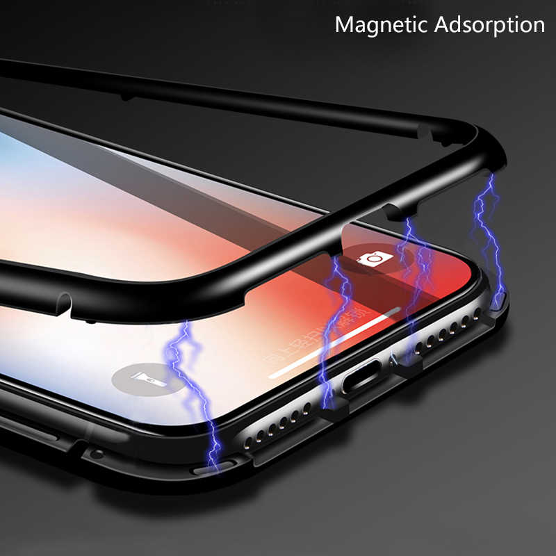 hot sale online c904f 9afb1 chyi magnetic flip case for xiaomi redmi note 7 5 6 pro clear tempered  glass back cover metal frame shockproof protective coque