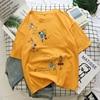 Cartoon T Shirt Women Summer Tops O-Neck Loose 4
